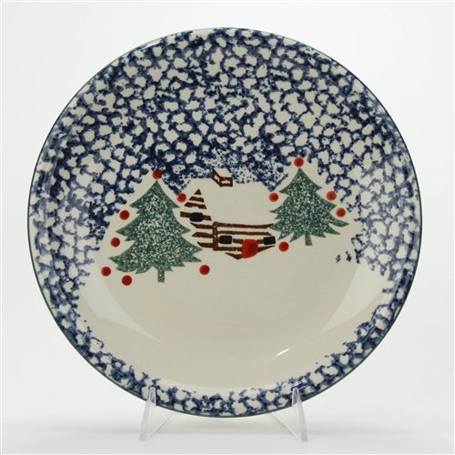 - Cabin in The Snow by Tienshan, Stoneware Dinner Plate