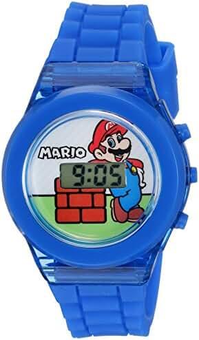 Nintendo Boy's Quartz Plastic Casual Watch, Color:Blue (Model: GMA3002)