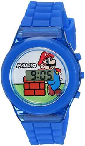 Nintendo Boy's Quartz Plastic Casual Watch, Color:Blue (Model: GMA3002)