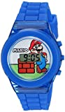 Nintendo Boys' Quartz Watch with Plastic Strap, Blue, 17 (Model: GMA3002