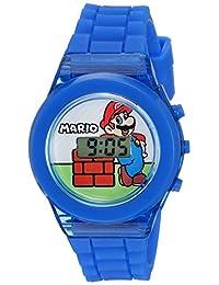Nintendo Boy 's plástico reloj Casual de cuarzo, color: azul (modelo: gma3002)