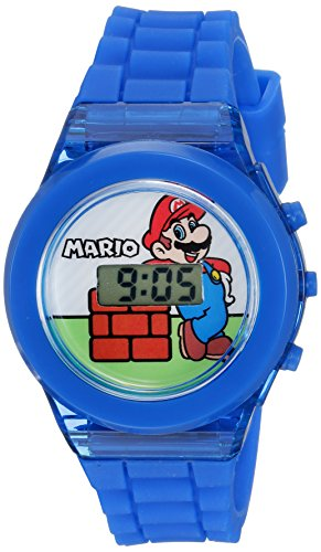 - Nintendo Boys' Quartz Watch with Plastic Strap, Blue, 17 (Model: GMA3002)