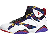 Jordan Men Air 7 Retro (White/University Red/Black/Bright Concord) Size 11 US