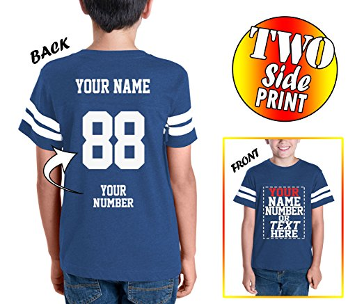 Custom Cotton Jerseys for Youth and Teens - Make Your OWN Jersey T Shirts - Personalized Team Uniforms for Casual Outfit (About T-shirt Hockey)