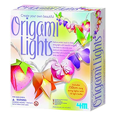 4M Create Your Own Beautiful  Origami Lights: Toys & Games