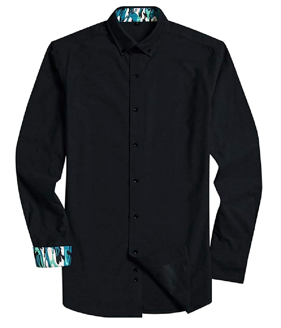 YUNY Mens Comfortable Regular Fit Mid Long Thermal Western Shirt 4 2XL