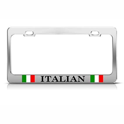 Amazon.com: Italy Italian Italiano Country Metal License Plate Frame ...
