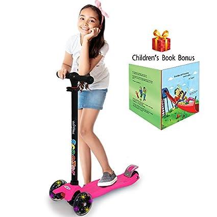 Amazon.com: Patinete de 3 ruedas. Para niños de 2 a 12 años ...