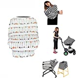 SHELLBOBO Ultrasoft Multi-Use Stretchy Baby Car Seat Canopy | Nursing Cover | High Chair Cover | Shopping Cart Cover | Infinity Scarf with Bonus Matching Pouch (S)