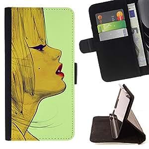 Momo Phone Case / Flip Funda de Cuero Case Cover - Lèvres - LG G4 Stylus H540
