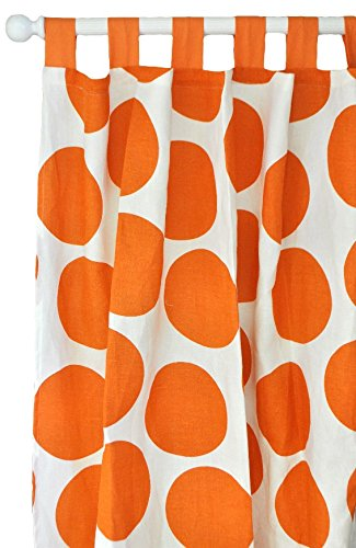 New Arrivals Curtain Panels, Spot on in Tangerine, 2 Count by New Arrivals