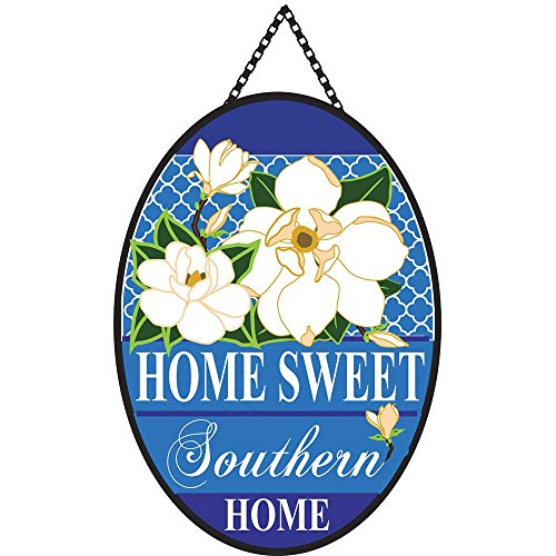 Oval Sweet - Home Sweet Southern Home Magnolia 22 x 19.5 Oval Chain Rope Door Banner
