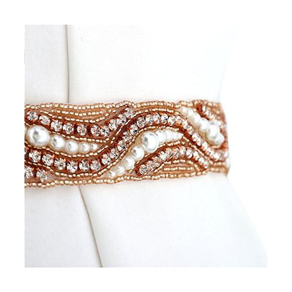 "3 Yards 1//2/"" Width White Flower Pearl Rhinestone Chain Sew On Trims Wedding"