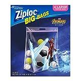 ziploc big bags - Ziploc Brand Big Bags featuring Marvel Studios' Avengers: Infinity War Design, Large, 4 ct