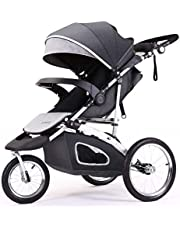 Jogging Stroller for Baby - Lightweight Jogger Strollers, 3 Wheels Compact Light Weight Stroller for Babies and Toddlers Infant