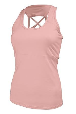Naffta Fitness Camiseta Tirantes, Mujer, Rosa (cálido), S