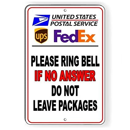 Amazon Ring Bell No Answer Do Not Leave Packages Delivery