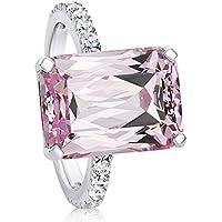 Nongkhai shop Women Fashion 925 Silver Pink Kunzite Ring Wedding Bridal Jewelry Size 6-10 (8)