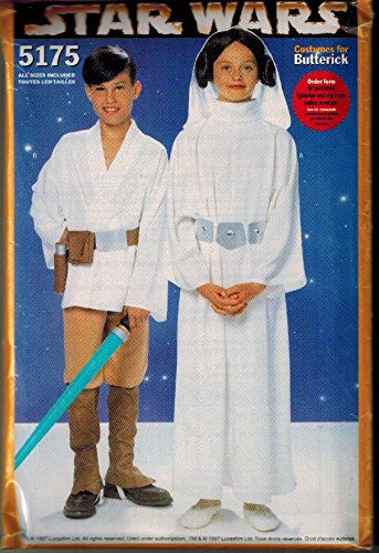Luke Skywalker Costume Pattern (Butterick 5175 Star Wars Sewing Pattern for Children, Costume for Sizes S to XLg (4 to 14))