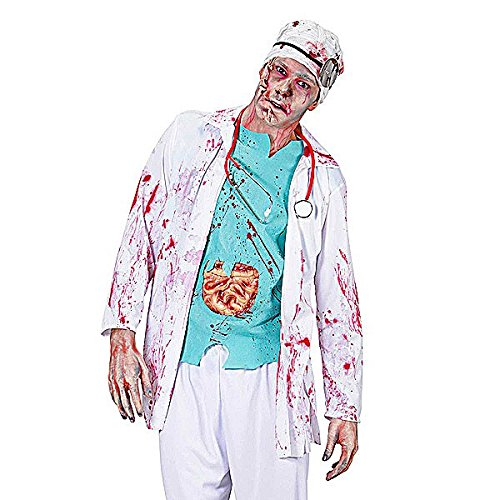 [Zombie Doctor Costume For Doctors Nurses & Hospitals Fancy Dress] (Zombie Doctor Childrens Costumes)
