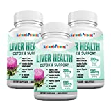 Cheap Nature's Present Liver Detoxifier and Support with Milk Thistle- Advanced Formula with 22 Herbal-Based Ingredients, GMP certificated, Non-GMO-60 Capsules (3)