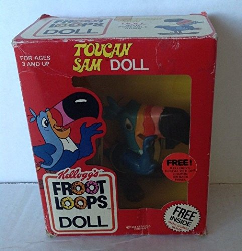 - Froot Loops Toucan Sam Doll Original Box 1984 Kellogg Company