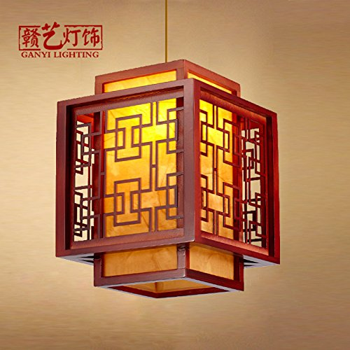 - CLG-FLY Single head chandeliers, Chinese tea houses, antique sheepskin, single head chandeliers, classical corridors, corridors, balcony lamps,No light source, 35×35×42