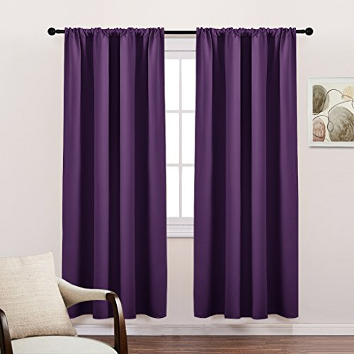 Blackout Curtains for Living Room - Energy Saving Thermal Insulated Blackout Curtains / Window Coverings with Rod Pocket Home Decoration by PONY DANCE, 42