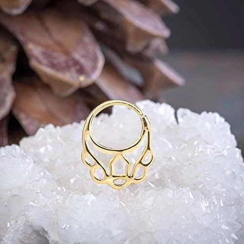 Amazon.com: Unique Septum Jewelry, 24K Gold Plated Silver