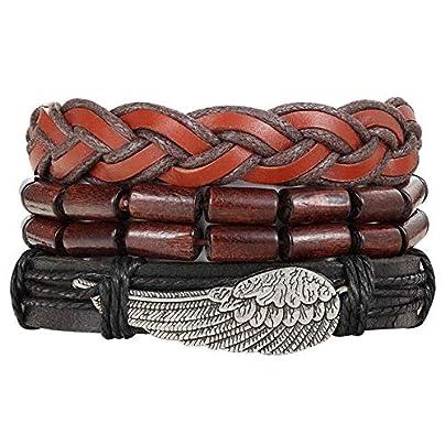 XIAOHA Men S Bracelet Leather Anchor Bracelets amp Amp Bangle Men Multilayer Bead Wristband Vintage Handmade Bracelet Estimated Price £15.99 -