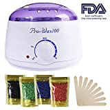 Hair Removal Cream Diy - Wax Warmer, Portable Electric Hair Removal Kit for Facial &Bikini Area& Armpit-- Melting Pot Hot Wax Heater accessories Total Body Waxing Spa or Self-waxing Spa in Home For Girls & Women & Men
