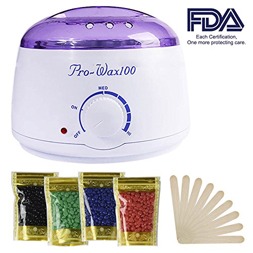 Wax Warmer, Portable Electric Hair Removal Kit for Facial &Bikini Area& Armpit-- Melting Pot Hot Wax Heater accessories Total Body Waxing Spa or Self-waxing Spa in Home For Girls & - Popular Hair Facial