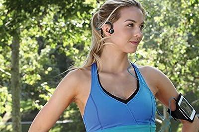 AfterShokz Sportz Titanium Open Ear Wired Bone Conduction Headphones with Microphone