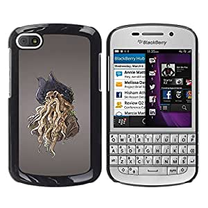 LECELL -- Funda protectora / Cubierta / Piel For BlackBerry Q10 -- Pirate Octopus Monster --