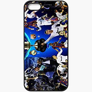 Personalized iPhone 5 5S Cell phone Case/Cover Skin Copa del rey finale cristiano ronaldo lionel messi fc barcelona real madrid Black
