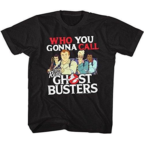 American Classics The Real Ghostbusters TV Series Call Em Black Youth Big Boys T-Shirt Tee (Big T-shirt Time Youth)