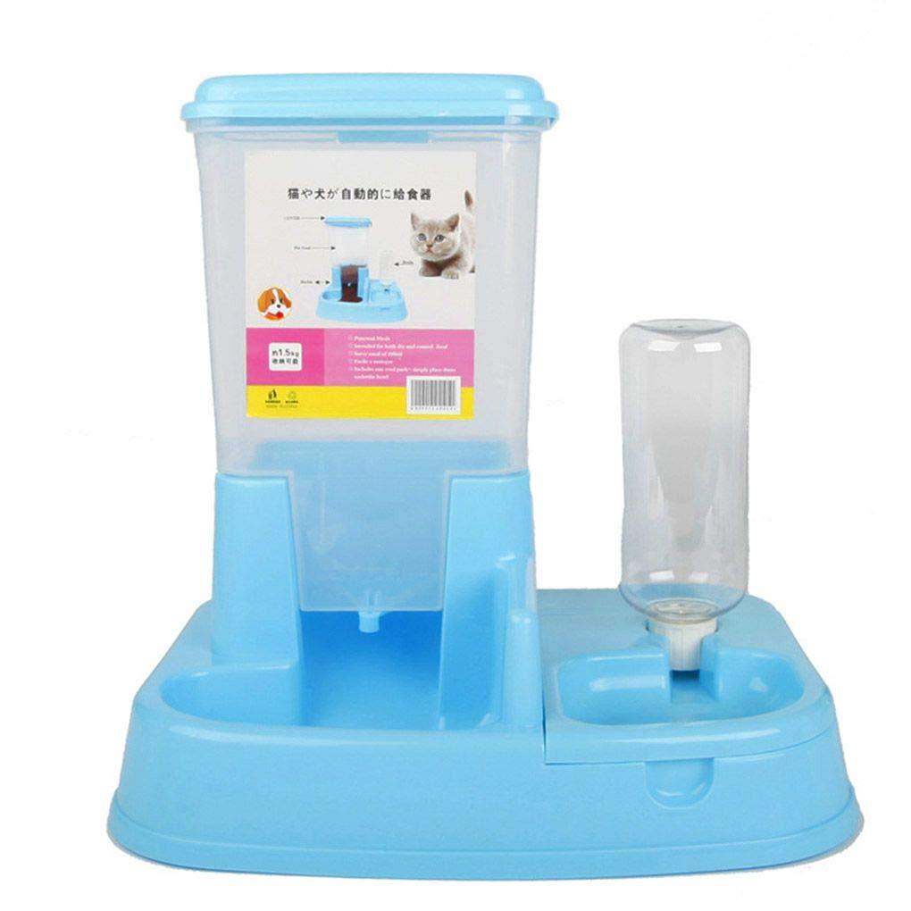 Perro de Doble Puerto automático alimentador automático dispensador de Agua Potable Gato Plato Fuente Alimentación Suministros Pet Bowl Provide The Best