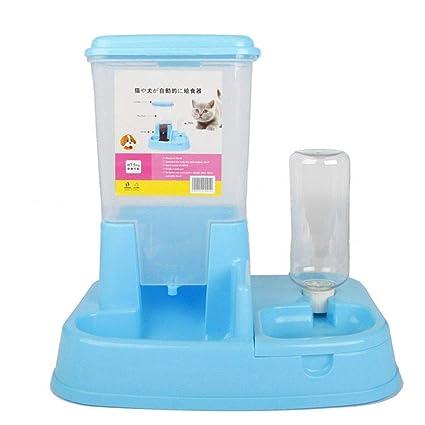 Perro de Doble Puerto automático alimentador automático dispensador de Agua Potable Gato Plato Fuente Alimentación Suministros