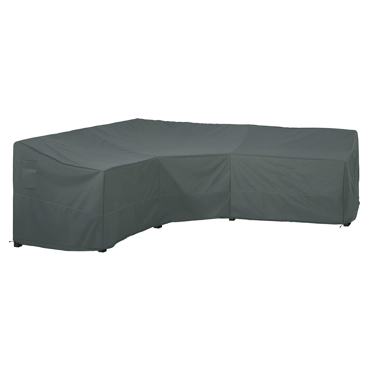 Delxo Ravenna Sectional Sofa Cover Waterproof - 100% UV & Weather Resistant PVC Coated, V-Shaped by Delxo (Image #1)