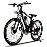 Bicycle Electric Folding Mountain Bike 250W 25Inch Black/Red