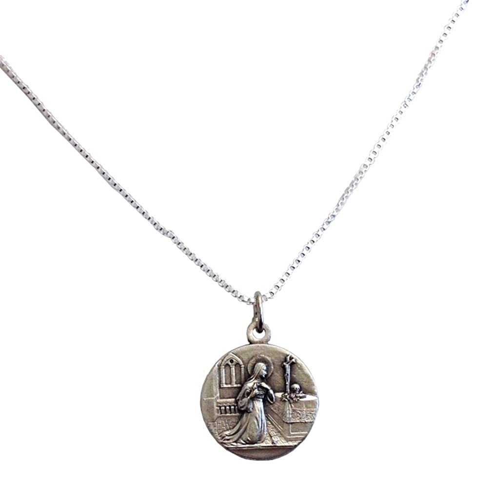 Médaille de Sainte Rita de Cascia avec Chaîne- Les médailles des Saints Patrons Igj Mro18CC