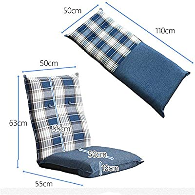 Amazon.com: Foldable Padded Floor Chair Lazy Floor Sofa ...