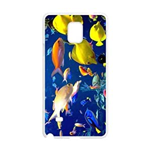 Cheap phonecase, Colorful undersea world picture for white plastic SamSung Galaxy Note4 case