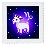 Janna Salak Designs Zodiac - Cute Astrology Capricorn Zodiac Sign Goat - 6x6 inch quilt square (qs_28558_2)