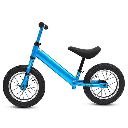 Bicicleta sin pedales Bici Blue Balance Bike para niños: niños ...