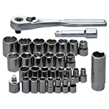 Craftsman 9-34740 32 Piece 1/4-3/8 Drive Standard/Metric Socket Wrench Set