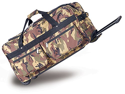 Explorer Mossy Oak Realtree Like Camo Tactical Hunting Camo Duffel Bag Luggage Travel Gear for Hunting Outdoor Police Security (22 inch Camo)