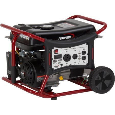 Powermate Wx3400 Portable Generator, Easy Maneuvering With Comfort Grip Handles