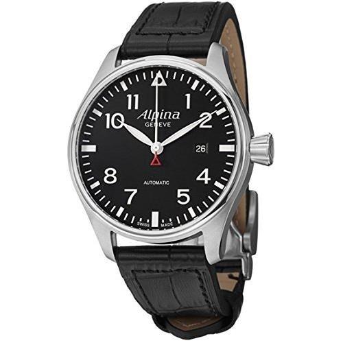 Alpina Men's AL525B4S6 Aviation Pilot Analog Display Swiss Automatic Black Watch