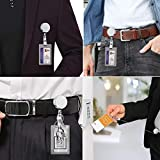 2 Pack Heavy Duty Retractable Badge Holder Reel
